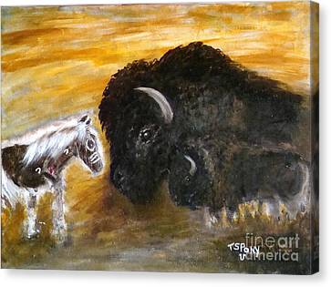 Canvas Print featuring the painting Of Proud Heritage by Barbie Batson