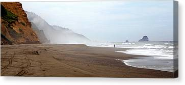 Canvas Print featuring the photograph Of Solitude And Sand by Thomas Bomstad