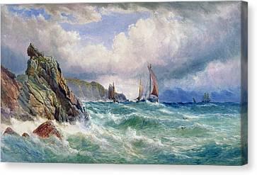 Choppy Canvas Print - Off Cape Clear    County Cork by John Faulkner