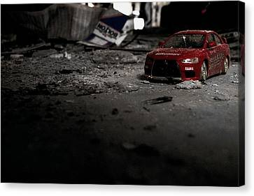Off Road Rally Red Canvas Print