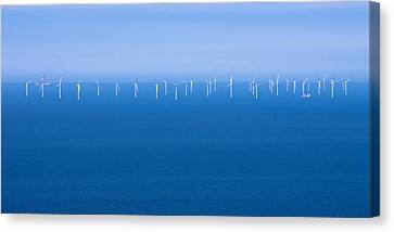 Off-shore Wind Farm Canvas Print by Jane McIlroy