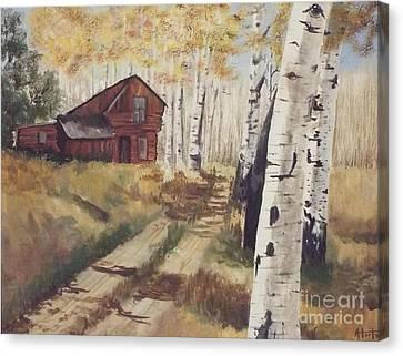 Off The Beaten Path Canvas Print by Audrey Van Tassell