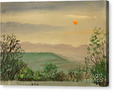 Daviess County Canvas Print - Off The Deck 7pm by Art By Tolpo Collection