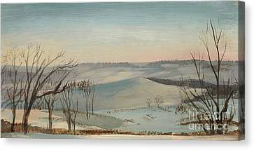 Daviess County Canvas Print - Off The Deck In Winter by Art By Tolpo Collection