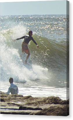 Off The Jetty Canvas Print by John Wartman