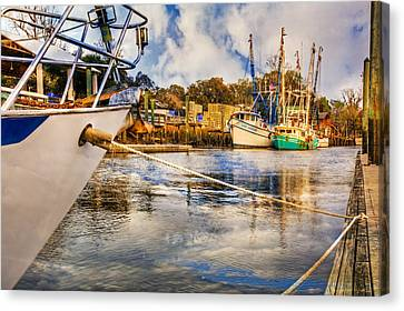 Off The Starboard Bow Canvas Print by Debra and Dave Vanderlaan