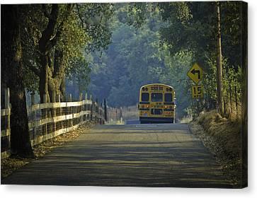 Off To School Canvas Print by Sherri Meyer