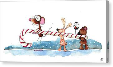 Off To The North Pole Canvas Print by Lucia Stewart