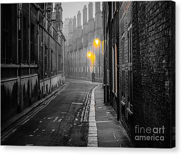 Off To Work Canvas Print by David Warrington