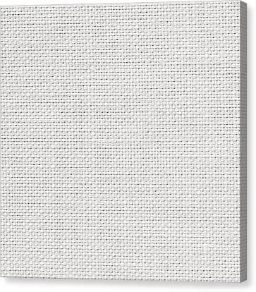 Off White Textile Canvas Print by Tom Gowanlock