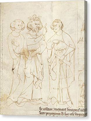 Offa And The Master Mason Canvas Print