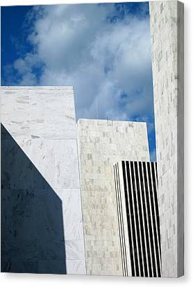 Canvas Print featuring the photograph Office Building Abstract by Mary Bedy