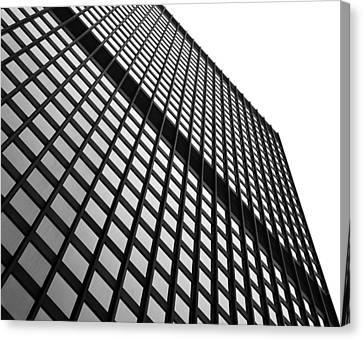 Office Building Facade Canvas Print by Valentino Visentini