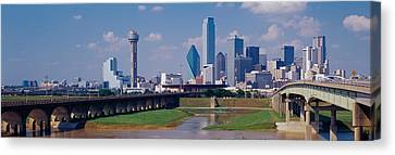 Office Buildings In A City, Dallas Canvas Print by Panoramic Images