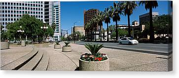 Office Buildings In A City, Downtown Canvas Print by Panoramic Images