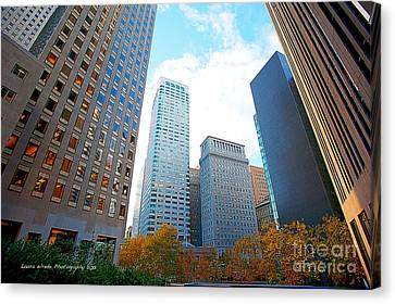 Office Space For Rent In Downtown San Francisco Canvas Print by Artist and Photographer Laura Wrede