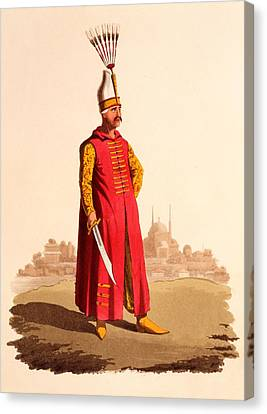 Officer Canvas Print - Officer Of The Janissaries, From The by Thomas Charles Wageman