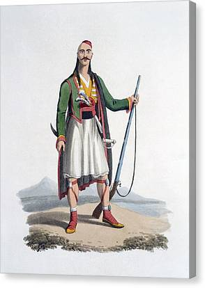 Officer Canvas Print - Officer Of The Spahis, 1818 by English School