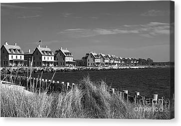 Canvas Print featuring the photograph Officers Row - Sandy Hook by Vicki DeVico