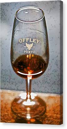 Offley Port Wine Glass Canvas Print by David Letts