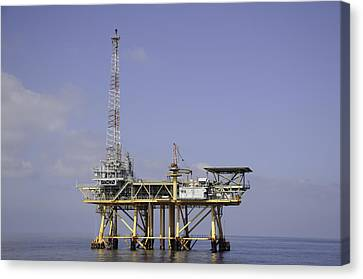 Canvas Print featuring the photograph Offshore Gas Platform by Bradford Martin