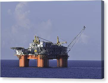 Canvas Print featuring the photograph Offshore Production Platform by Bradford Martin