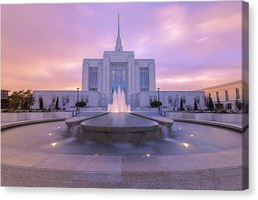 Ogden Temple I Canvas Print by Chad Dutson