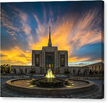 Ogden Temple Canvas Print by Peter Irwindale