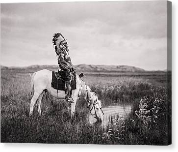 Oglala Indian Man Circa 1905 Canvas Print by Aged Pixel