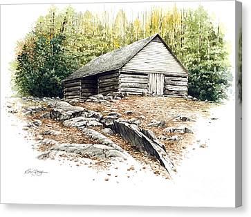 Ogle Barn - 1880 Canvas Print by Bob  George