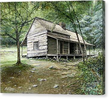 Ogle Cabin Canvas Print by Bob  George