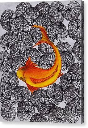 Ogon- Koi Fish Canvas Print
