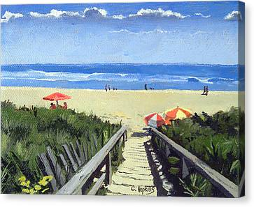 Ogunquit Footbridge Beach Ogunquit Maine Canvas Print