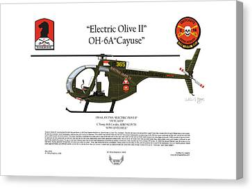 Oh-6a Electric Olive II Loach Canvas Print by Arthur Eggers