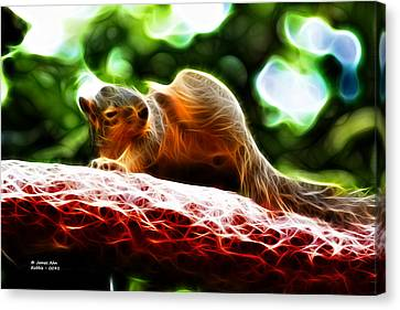 Oh Buggers I Itch - Fractal - Robbie The Squirrel Canvas Print by James Ahn