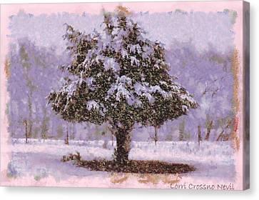 Oh Christmas Tree Canvas Print by Lorri Crossno