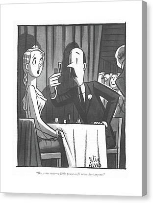 Booze Canvas Print - Oh, Come Now - A Little Pousse-cafe Never Hurt by Peter Arno