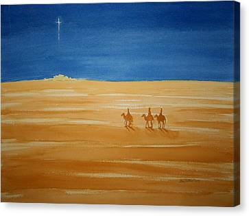 Canvas Print featuring the painting Oh Holy Night by Stacy C Bottoms
