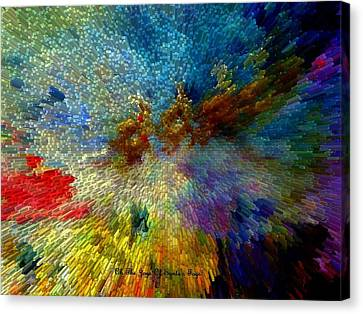 Canvas Print featuring the painting Oh The Joys Of Santa's Toys by Lisa Kaiser