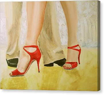 Oh Those Red Shoes Canvas Print
