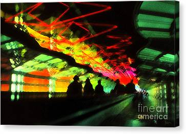 O'hare Airport Canvas Print by Jeff Breiman