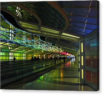 Canvas Print featuring the photograph O'hare Color by Rhonda McDougall