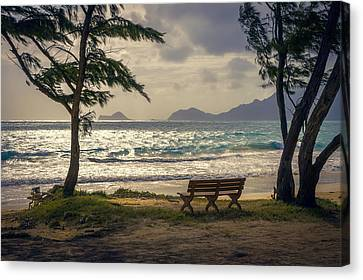 Canvas Print featuring the photograph Oahu Sunrise by Steven Sparks