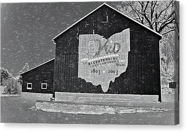 Ohio Barn In Winter Canvas Print