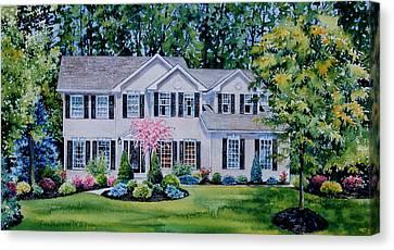 Ohio Home Portrait Canvas Print by Hanne Lore Koehler