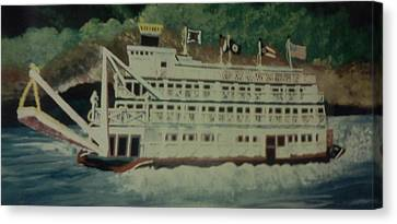 Ohio Riverboat Canvas Print by Christy Saunders Church
