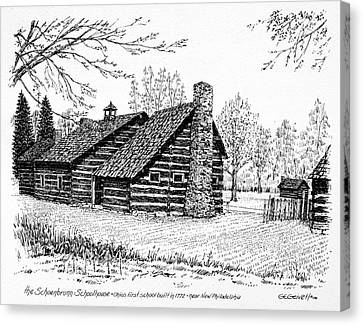 Ohio Schoolhouse, 1772 Canvas Print by Granger