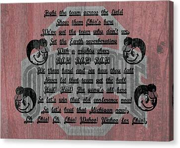 Ohio State Buckeyes Fight Song Canvas Print by Dan Sproul