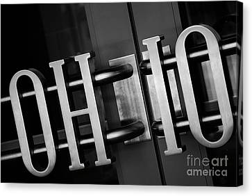 Football Canvas Print - Ohio Union  by Rachel Barrett