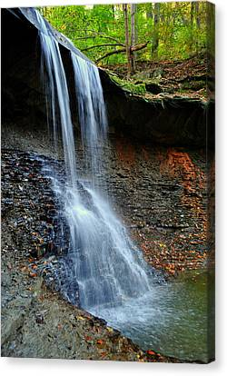 Ohio Waterfall Canvas Print by Frozen in Time Fine Art Photography